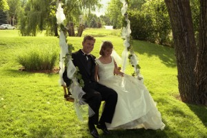 image of a scanned negative from a wedding day