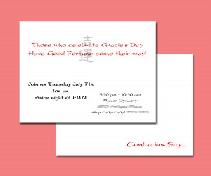 Gracie's invitation