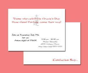 Gracie's invitation