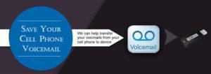 save cell phone voicemail